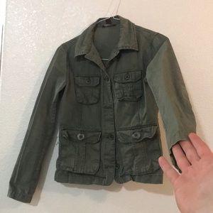 H&M Jackets & Coats - H&M Olive green utility jacket